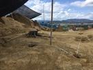 西の郭の掘立小屋跡…