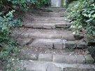 遺構の階段。