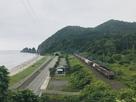 眺望と列車(階段上から)
