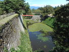 廊下橋、本丸石垣、水堀…