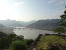 本丸からの熊野川の眺め…