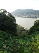 鐘ノ丸から眺める水ノ手と熊野川…