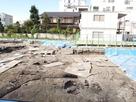 三の丸武家屋敷跡の発掘現場…