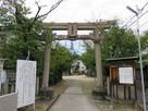 城址碑建つ八尾神社…
