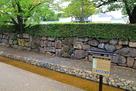 堀川沿いに残る西面石垣…