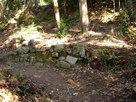 二の丸付近に残る石垣…