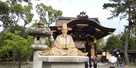 豊国神社の豊臣秀吉像…