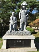 真田信之と小松姫像…