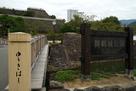 遊亀橋から本丸、天守台を望む