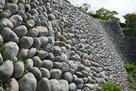 本丸南側の石垣…