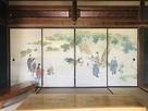 旧高橋源次郎家 ふすまの日本画…