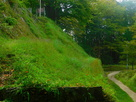 本丸西面の石垣…