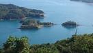 カレイ山から望む能島城跡