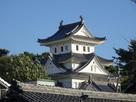 常葉神社から眺める天守…