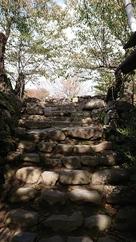天守台の階段