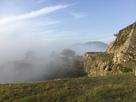 雲海に飲まれる石垣…