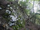 六角石垣の上段にある巨大石垣…