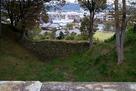 本丸東の空堀の尼ヶ淵側の石垣