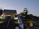 ライトアップされた掛川城…