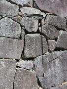 大手門石垣の門跡…
