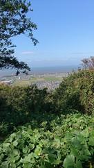 本丸跡より琵琶湖を望む…