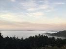 展望台より雲海と城…