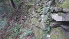 登山道の脇にある石垣…