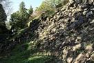 二の丸東側の石垣…