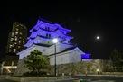ブルーリボンデーライトアップ尼崎城…