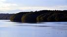 狭山湖堤防上からの遠景…
