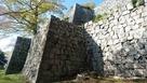 栃の木御門跡より天守方面の石垣…