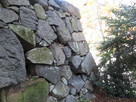 二の丸西鉄門北側の多聞櫓台の石垣(二の丸…