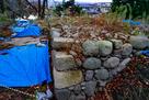 発掘中の櫓台