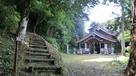 天守台への道と神社