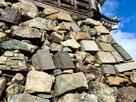 天守台石垣の転用石…