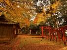 稲荷神社(城址北東部土塁上)…