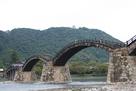 錦帯橋と天守