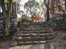 七曲門跡の石段…