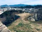 本丸石垣と大山眺望…