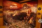 燃える岡山城
