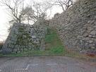 巽櫓跡北東隅二段石垣…