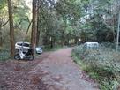 登城口先の駐車スペース…