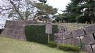 崩壊した石垣