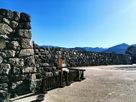 北不明門から見た本丸石垣