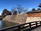 太鼓門前の橋から見たお堀と石垣