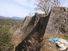 三の丸北側の高石垣…