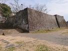 本丸西側の石垣…