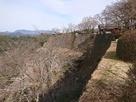 二の丸北側の高石垣…