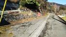 登城道の農道と駐車可能なスペース…