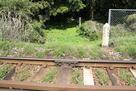 JR指宿枕崎線を跨ぐ登城口…